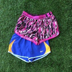 2 EUC Women's Size XS Workout Shorts! Nike & UA